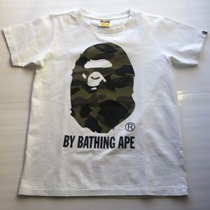 Bape 1st Camo By Bathing Ape White Shirt